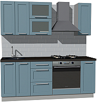 Готовая кухня Оптима by ZOV Трент ВТ0-008ЕБ 200 (деним) -