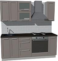 Готовая кухня Оптима by ZOV Трент ВТ1-008ЕБ 200 (ясень/меланж) -