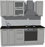 Готовая кухня Оптима by ZOV Трент ВТ2-008ЕБ 200 (ясень/светло-серый) -