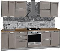 Готовая кухня Оптима by ZOV Трент ВТ1-009КБ 260 (ясень/меланж) -