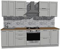 Готовая кухня Оптима by ZOV Трент ВТ2-009КБ 260 (ясень/светло-серый) -