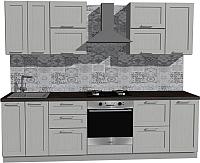 Готовая кухня Оптима by ZOV Трент ВТ2-009ЕБ 260 (ясень/светло-серый) -