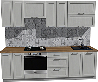 Готовая кухня Оптима by ZOV Трент ВТ2-010КБ 260 (ясень/светло-серый) -