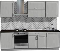 Готовая кухня Оптима by ZOV Трент ВТ2-011ЕБ 260 (ясень/светло-серый) -