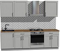 Готовая кухня Оптима by ZOV Трент ВТ2-012КБ 260 (ясень/светло-серый) -
