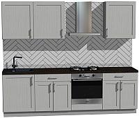 Готовая кухня Оптима by ZOV Трент ВТ2-012ЕБ 260 (ясень/светло-серый) -
