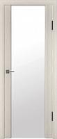 Дверь межкомнатная Юркас Триплекс 2 60x200 (беленый дуб сатин/белый триплекс) -
