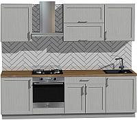 Готовая кухня Оптима by ZOV Трент ВТ2-011КБ 260 (ясень/светло-серый) -