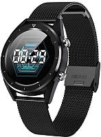 Умные часы NO.1 DT28 (черный, металлический ремешок) -