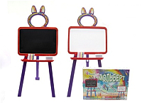 Мольберт детский Doloni 0137770/5 (оранжевый/фиолетовый) -