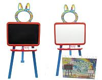Мольберт детский Doloni 0137770/7 (оранжевый/голубой) -
