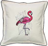 Подушка декоративная MATEX Фламинго / 01-492 (белый) -