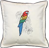 Подушка декоративная MATEX Попугай ара / 01-508 (белый) -