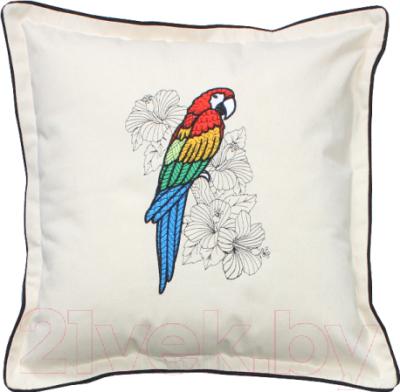 Подушка декоративная MATEX Попугай ара / 01-508 (белый)