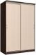 Шкаф Интерлиния Неаполь АН-011-15-00 (БФ) (дуб молочный/дуб венге) -