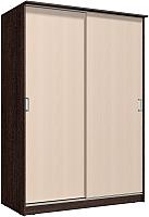 Шкаф Интерлиния Неаполь АН-011-16-00 (БФ) (дуб молочный/дуб венге) -