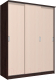 Шкаф Интерлиния Неаполь АН-012-17-00 (БФ) (дуб молочный/дуб венге) -