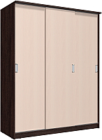 Шкаф Интерлиния Неаполь АН-012-18-00 (БФ) (дуб молочный/дуб венге) -