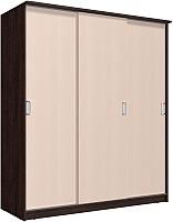Шкаф Интерлиния Неаполь АН-012-20-00 (БФ) (дуб молочный/дуб венге) -