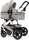 Детская универсальная коляска Lorelli Lora 2 в 1 Triangles / 10021271965 (beige) -