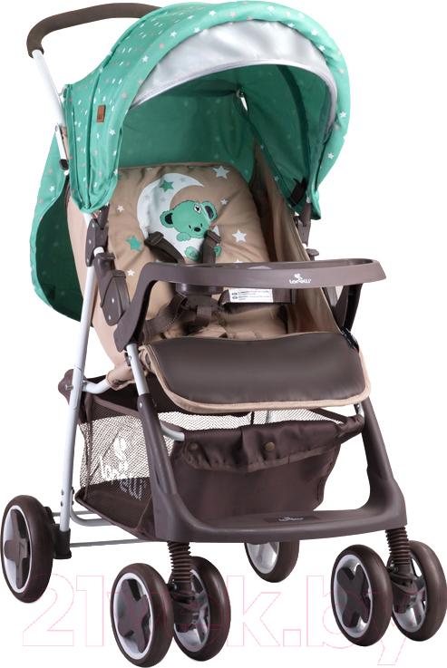 Купить Детская прогулочная коляска Lorelli, Terra Moon Bear / 10020961932A (green/beige), Китай