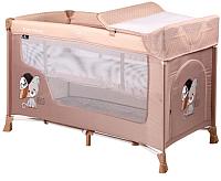 Кровать-манеж Lorelli San Remo 2 Cool Cat / 10080071935 (beige) -