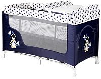 Кровать-манеж Lorelli San Remo 2 Pinguin / 10080071936 (blue/white) -