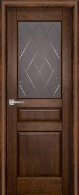 Дверь межкомнатная Юркас Vi-Lario ДО Валенсия 80x200 (античный орех)