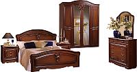 Комплект мебели для спальни ФорестДекоГрупп Валерия-4 (орех) -