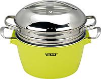 Кастрюля Vitesse VS-2299 (зеленый) -