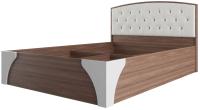 Каркас кровати SV-мебель Спальня Лагуна 7 160x200 со стразами (ясень шимо темный/жемчуг) -