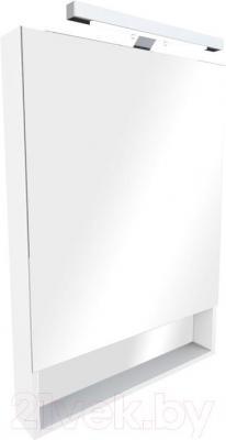 Шкаф с зеркалом для ванной Roca The Gap 60 ZRU9302748 (белое) - общий вид