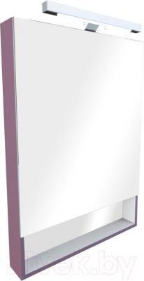 Шкаф с зеркалом для ванной Roca The Gap 60 ZRU9000087 (фиолетовое) - общий вид