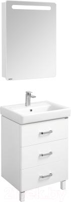 Шкаф с зеркалом для ванной Акватон Америна 60 (1A135302AM01L)