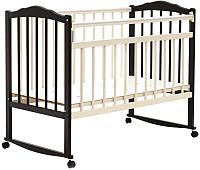 Детская кроватка Bambini М.01.10.09 (темный орех-слоновая кость) -