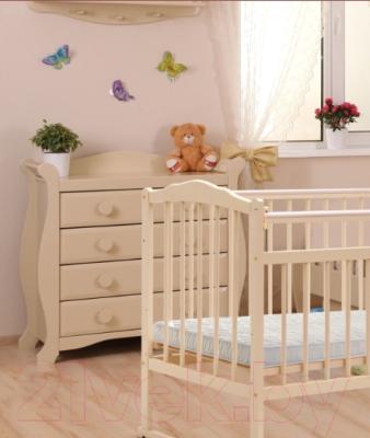 Детская кроватка Bambini М.01.10.09 (слоновая кость)