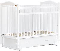 Детская кроватка Bambini М.01.10.10 (белый) -