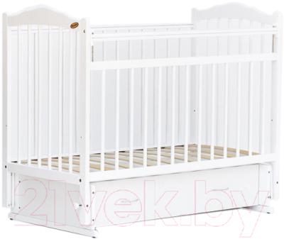 Детская кроватка Bambini М.01.10.10 (белый)