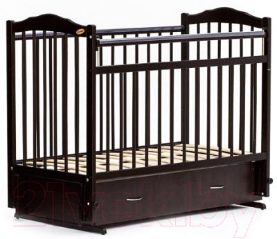 Детская кроватка Bambini М.01.10.10 (темный орех)