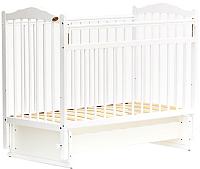 Детская кроватка Bambini М.01.10.11 (белый) -