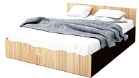 Полуторная кровать SV-мебель Спальня Эдем 5 140x200 (дуб венге/дуб млечный) -