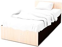 Односпальная кровать SV-мебель Спальня Эдем 5 90x200 (дуб венге/дуб млечный) -