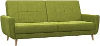 Диван Woodcraft Эббер (зеленый велюр) -