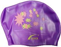 Шапочка для плавания No Brand KW (фиолетовый) -