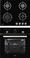Комплект встраиваемой техники Weissgauff EOA691PDB + HG604BG -