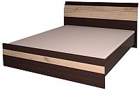 Двуспальная кровать Интерлиния Коламбия КЛ-001-1 180 (дуб венге/дуб серый) -