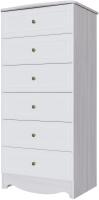 Комод SV-мебель Акварель 1 (ясень анкор светлый/белый матовый) -