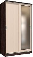 Шкаф Интерлиния Неаполь АН-011-13-01 (БФ) (дуб молочный/дуб венге) -