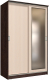Шкаф Интерлиния Неаполь АН-011-14-01 (БФ) (дуб молочный/дуб венге) -