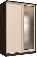 Шкаф Интерлиния Неаполь АН-011-15-01 (БФ) (дуб молочный/дуб венге) -